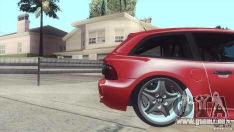 BMW Z3 M Power 2002 pour GTA San Andreas vue de droite