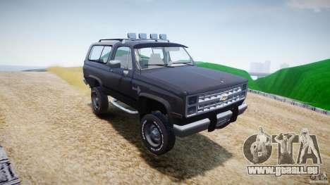 Chevrolet Blazer K5 Stock pour GTA 4 est une vue de dessous