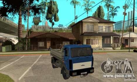5551 MAZ LKW für GTA San Andreas Rückansicht