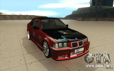 BMW Fan Drift Bolidas pour GTA San Andreas vue arrière