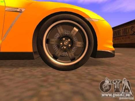 Nissan GT-R SpecV Black Revel pour GTA San Andreas vue de dessus