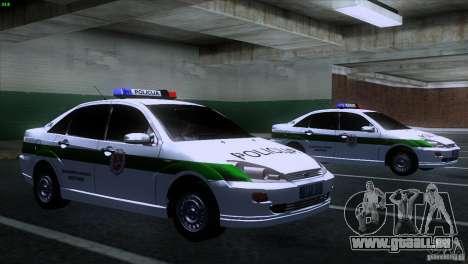 Ford Focus Policija für GTA San Andreas rechten Ansicht