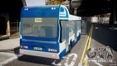 DAF Berkhof City Bus Amsterdam pour GTA 4 Vue arrière de la gauche