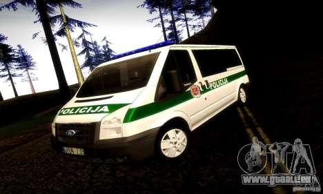 Ford Transit Policija pour GTA San Andreas
