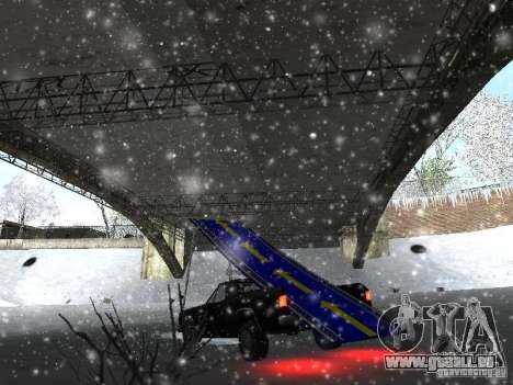 Pickup-Sprungbrett für GTA San Andreas Rückansicht