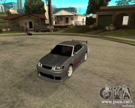 AUDI A4 Cabriolet pour GTA San Andreas laissé vue