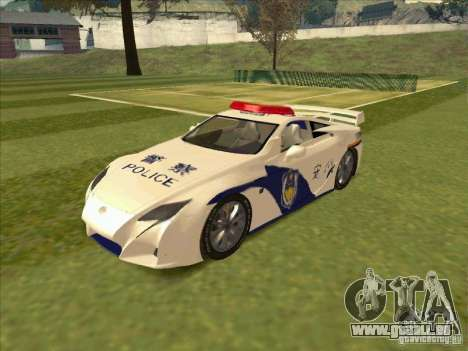 Lexus LF-A China Police für GTA San Andreas
