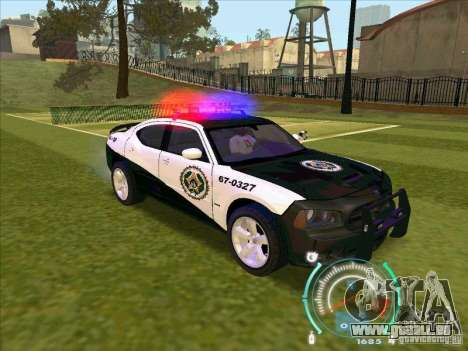 Dodge Charger Policia Civil from Fast Five für GTA San Andreas rechten Ansicht