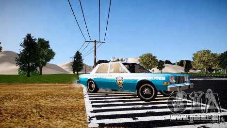 Dodge Diplomat 1983 Police v1.0 pour GTA 4 est une gauche