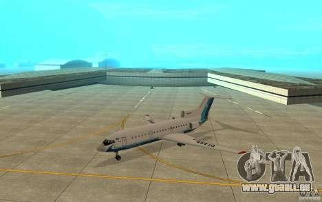 Jak-42 d Scat (Kasachstan) für GTA San Andreas linke Ansicht