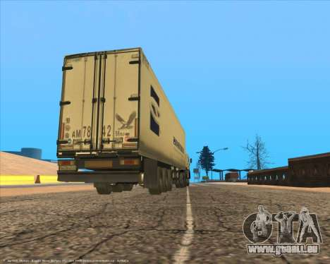Semi-remorque pour GTA San Andreas vue de droite