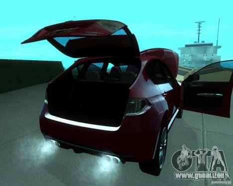 Subaru Impreza WRX STI Stock für GTA San Andreas rechten Ansicht