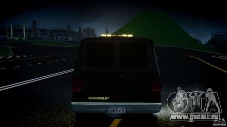 Chevrolet G20 Police Van [ELS] für GTA 4 Innen