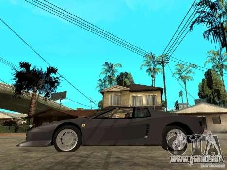 Ferrari TestaRossa Bustard Tuning pour GTA San Andreas laissé vue
