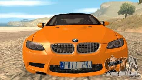 BMW M3 E92 für GTA San Andreas Innen