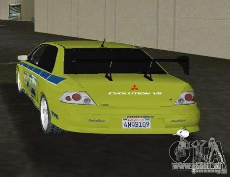 Mitsubishi Lancer Evolution VII für GTA Vice City zurück linke Ansicht
