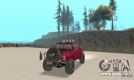 Dodge Ram Prerunner pour GTA San Andreas laissé vue