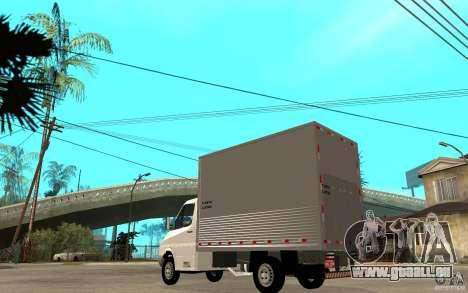 Mercedes-Benz Sprinter Truck für GTA San Andreas zurück linke Ansicht