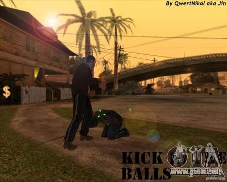 Kick in the balls für GTA San Andreas