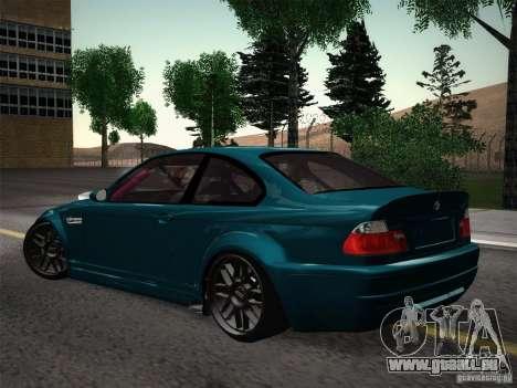 BMW E46 Drift II pour GTA San Andreas vue arrière