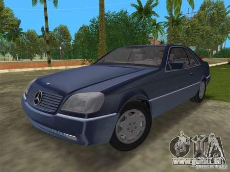 Mercedes-Benz 600SEC (C140) 1992 für GTA Vice City Rückansicht