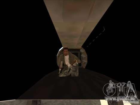 Cargo Shamal pour GTA San Andreas vue intérieure