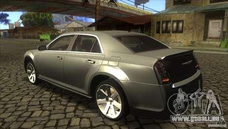 Chrysler 300 SRT-8 2011 V1.0 für GTA San Andreas zurück linke Ansicht