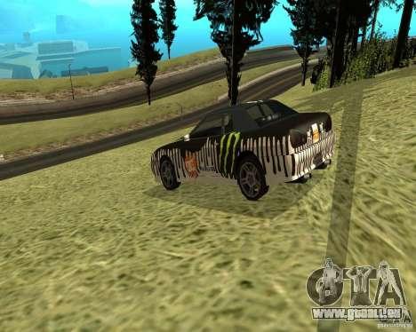 Monster Energy Vinyl pour GTA San Andreas vue de droite