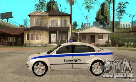 Skoda SuperB GEO Police pour GTA San Andreas laissé vue
