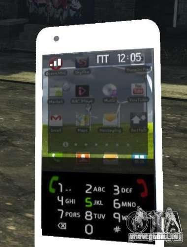 Samsung Galaxy S2 pour GTA 4 cinquième écran