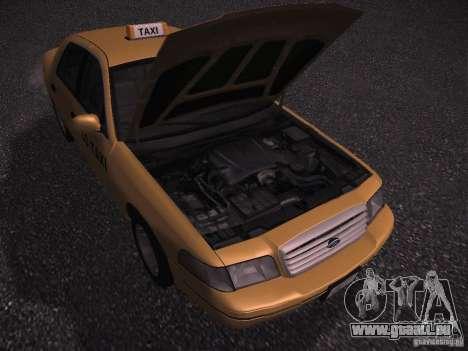 Ford Crown Victoria Taxi 2003 pour GTA San Andreas vue arrière