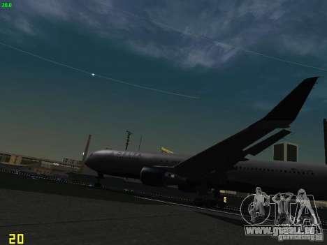 Boeing 767-400ER Delta Airlines für GTA San Andreas Innenansicht