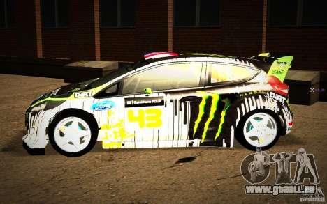 Ford Fiesta Gymkhana Four für GTA San Andreas zurück linke Ansicht