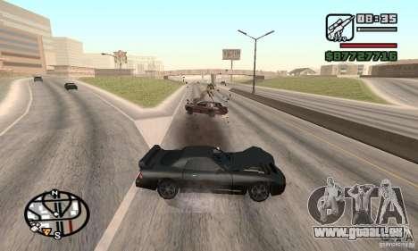 La perte de vies lors de l'écrasement pour GTA San Andreas deuxième écran