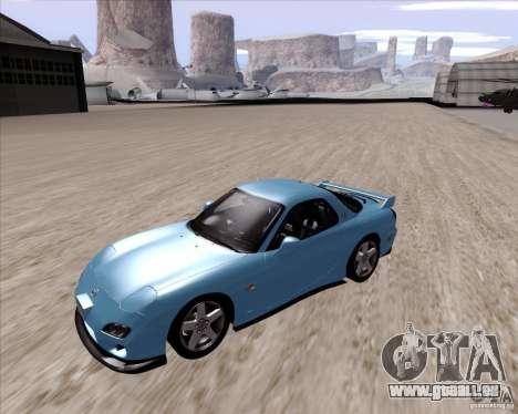 Mazda RX7 2002 FD3S SPIRIT-R (Type RS) pour GTA San Andreas laissé vue