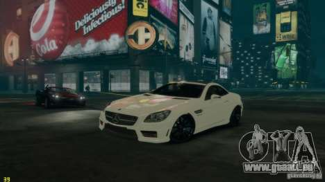 Mercedes-Benz SLK55 R172 AMG 2011 v1.0 pour GTA 4