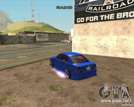 Toyota JZX110 make 2 für GTA San Andreas linke Ansicht