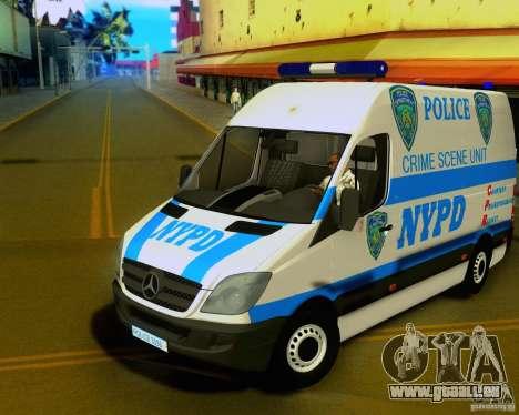 Mercedes Benz Sprinter NYPD police pour GTA San Andreas