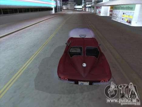 Chevrolet Corvette Big Muscle pour GTA San Andreas vue de droite