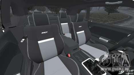 Dodge Challenger SRT8 2009 [EPM] pour GTA 4 est une vue de l'intérieur