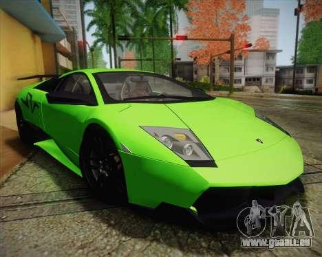Lamborghini Murcielago LP 670/4 SV Fixed Version pour GTA San Andreas vue de côté