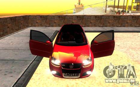 VolksWagen Golf GTI MK5 pour GTA San Andreas vue de dessus
