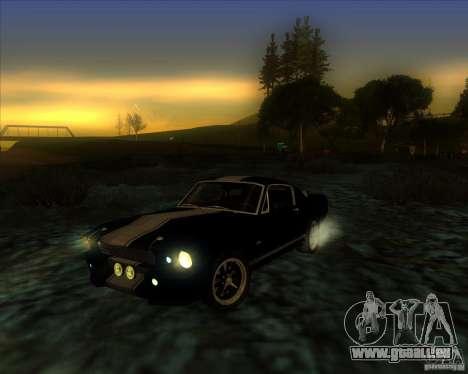 Shelby GT500 Eleanora clone pour GTA San Andreas vue intérieure