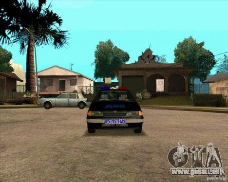 VAZ 2115 DPS pour GTA San Andreas laissé vue