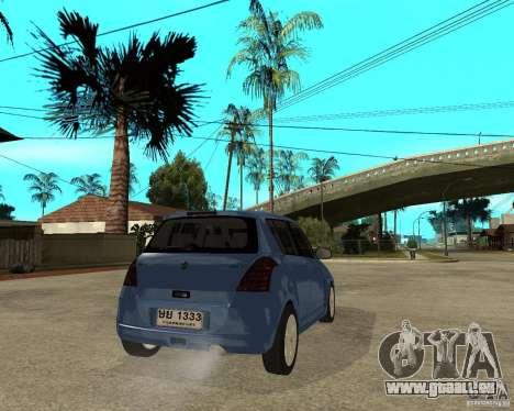 2007 Suzuki Swift pour GTA San Andreas sur la vue arrière gauche
