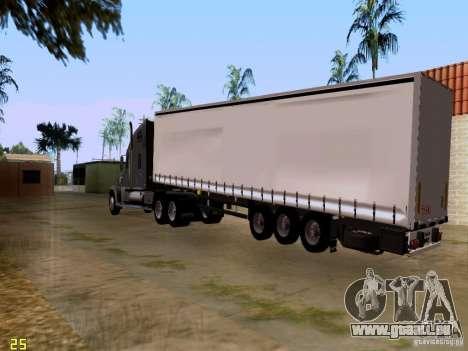 Freightliner Coronado pour GTA San Andreas vue arrière