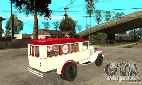 Ambulance GAZ AA pour GTA San Andreas vue de droite