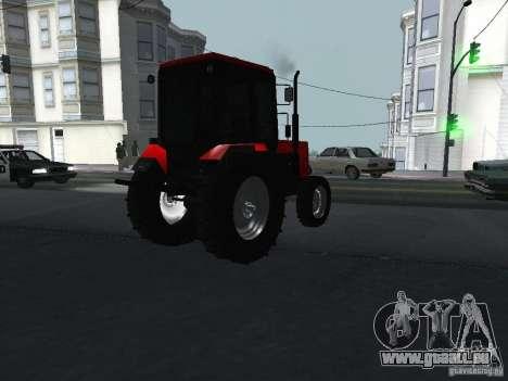 Tracteur MTF 1025 pour GTA San Andreas sur la vue arrière gauche