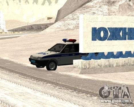 VAZ 2109 DPS pour GTA San Andreas sur la vue arrière gauche