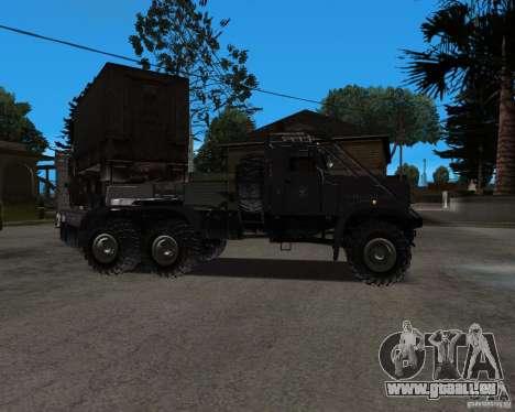 KrAZ 255 + remorque artict2 pour GTA San Andreas vue de droite